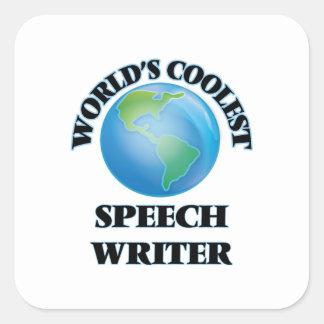 World's coolest Speech Writer Square Stickers