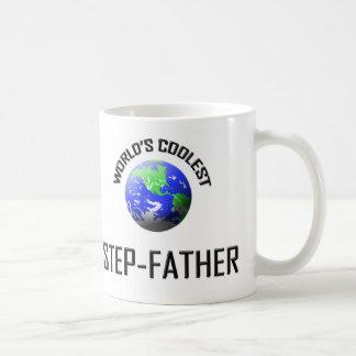 World's Coolest Step-Father Basic White Mug
