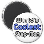 World's Coolest Step-Mum 6 Cm Round Magnet