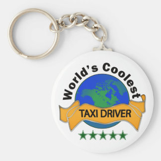 World's Coolest Taxi Driver Basic Round Button Key Ring