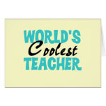 World's Coolest Teacher T-shirts and Gifts Card
