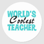 World's Coolest Teacher T-shirts and Gifts Sticker