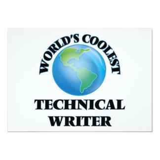 World's coolest Technical Writer Custom Announcement Card