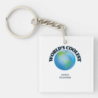 World's coolest Town Planner Square Acrylic Keychains