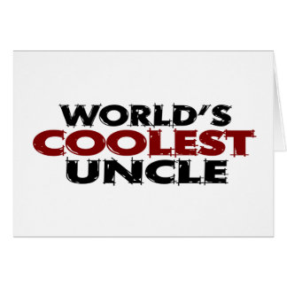 Worlds Coolest Uncle Card