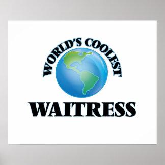 World's coolest Waitress Print