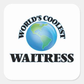 World's coolest Waitress Square Sticker