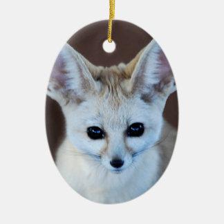 Worlds Cutest Fennec Fox Christmas Ornament