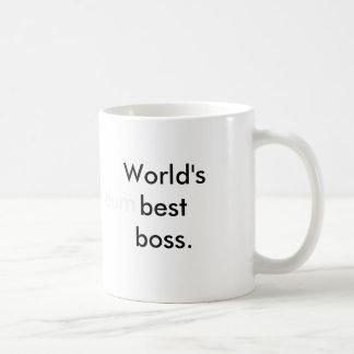 World's (dum)best boss. basic white mug