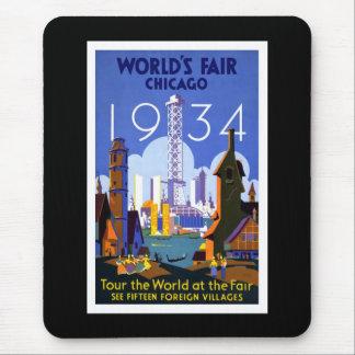 """""""World's Fair, Chicago 1934"""" Vintage Mouse Mat"""