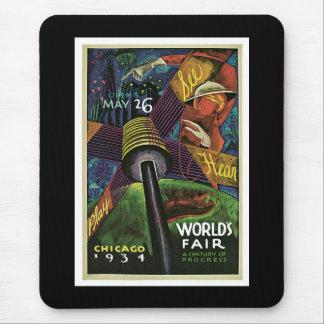 """""""World's Fair, Chicago, 1934"""" Vintage Mouse Mat"""