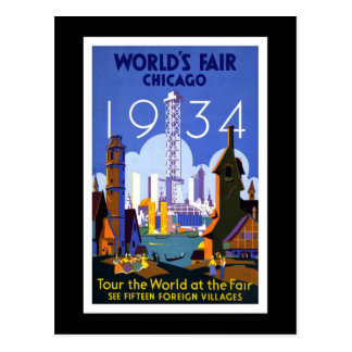 """World's Fair, Chicago 1934"" Vintage Postcard"