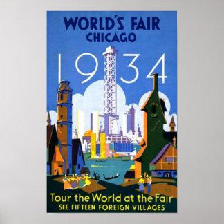 Worlds Fair Chicago 1934 WPA Vintage Poster