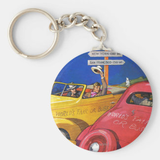 World's Fair or Bust Basic Round Button Key Ring