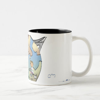 World's famous places around the globe Two-Tone coffee mug