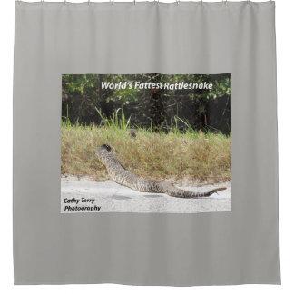World's Fattest Rattlesnake shower curtain
