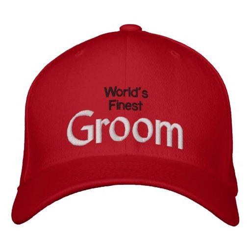 World's Finest Groom Embroidered Baseball Caps