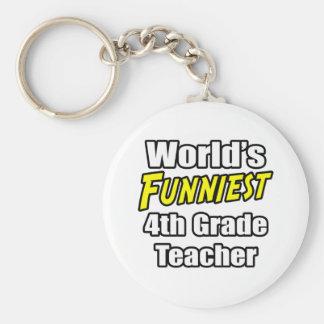 World's Funniest 4th Grade Teacher Key Chains