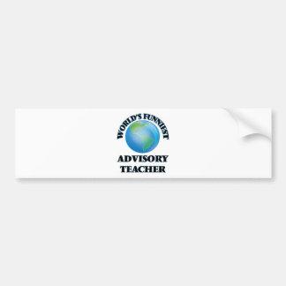 World's Funniest Advisory Teacher Bumper Sticker