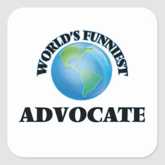 World's Funniest Advocate Square Stickers