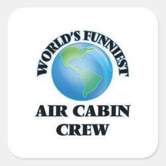 World's Funniest Air Cabin Crew Square Sticker