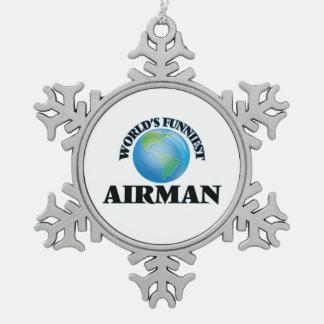 World's Funniest Airman Ornament
