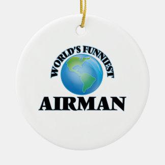 World's Funniest Airman Christmas Ornament