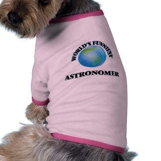 World's Funniest Astronomer Dog T Shirt