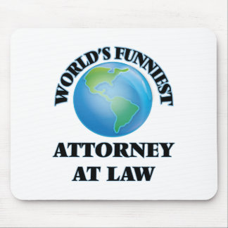 World's Funniest Attorney At Law Mouse Pads