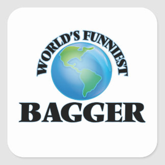 World's Funniest Bagger Square Stickers