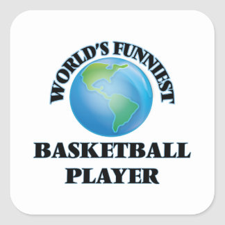 World's Funniest Basketball Player Square Sticker