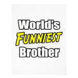 World's Funniest Brother Full Color Flyer