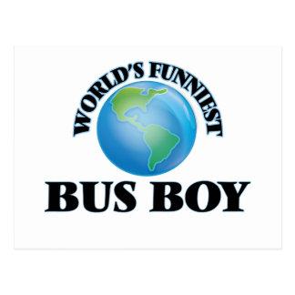 World's Funniest Bus Boy Postcards