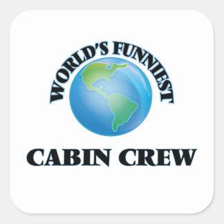 World's Funniest Cabin Crew Square Sticker