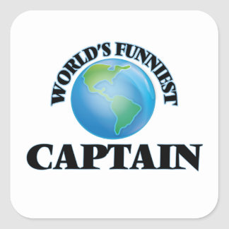 World's Funniest Captain Square Stickers
