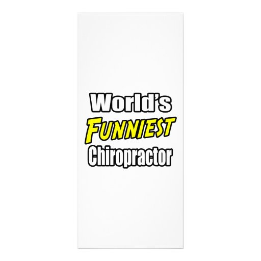 World's Funniest Chiropractor Rack Card