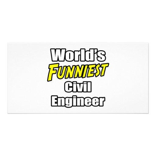 World's Funniest Civil Engineer Custom Photo Card