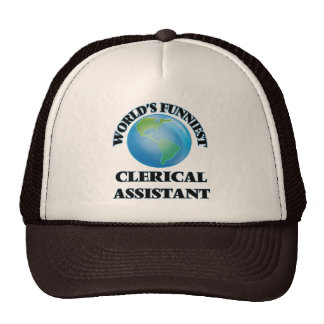 World's Funniest Clerical Assistant Mesh Hat