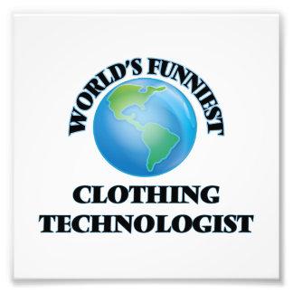 World's Funniest Clothing Technologist Photo Print