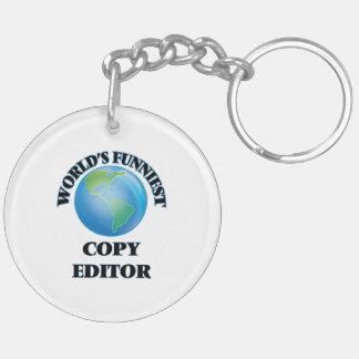 World's Funniest Copy Editor Key Chain