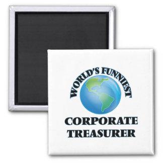 World's Funniest Corporate Treasurer Magnets