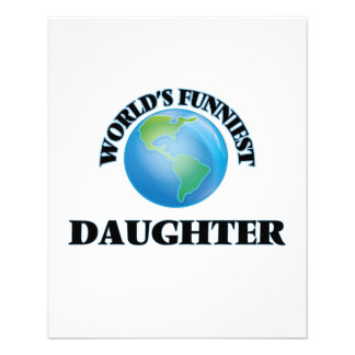 World's Funniest Daughter 11.5 Cm X 14 Cm Flyer