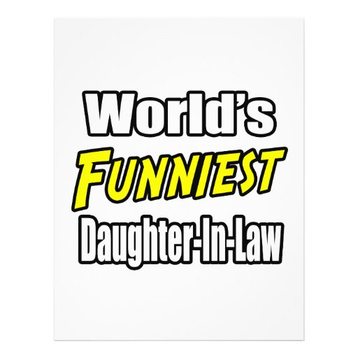 World's Funniest Daughter-In-Law Flyers