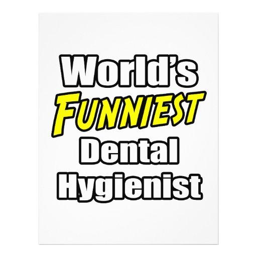World's Funniest Dental Hygienist Personalized Flyer