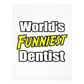 World's Funniest Dentist 21.5 Cm X 28 Cm Flyer