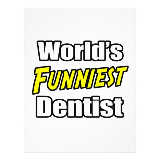 World's Funniest Dentist Personalized Flyer
