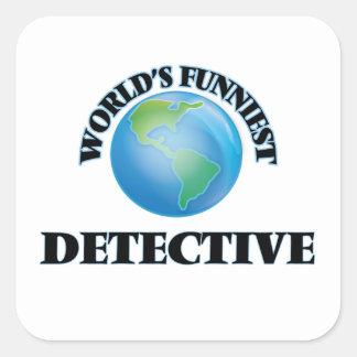World's Funniest Detective Square Sticker