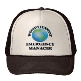 World's Funniest Emergency Manager Trucker Hat