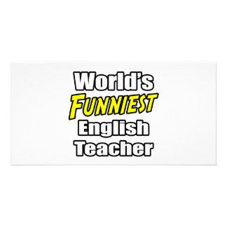World's Funniest English Teacher Photo Card