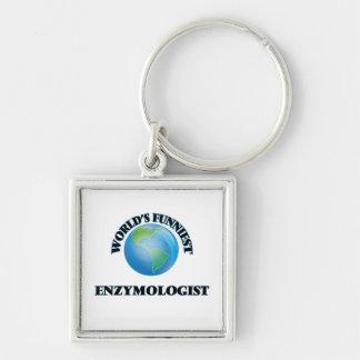 World's Funniest Enzymologist Keychain